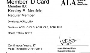 ALA Membership Card